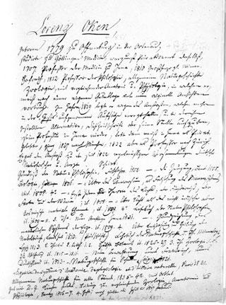 cover - Handschriftlicher Lebenslauf