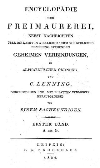Mossdorf Friedrich Hrsg Encyclopädie Der Freimaurerei